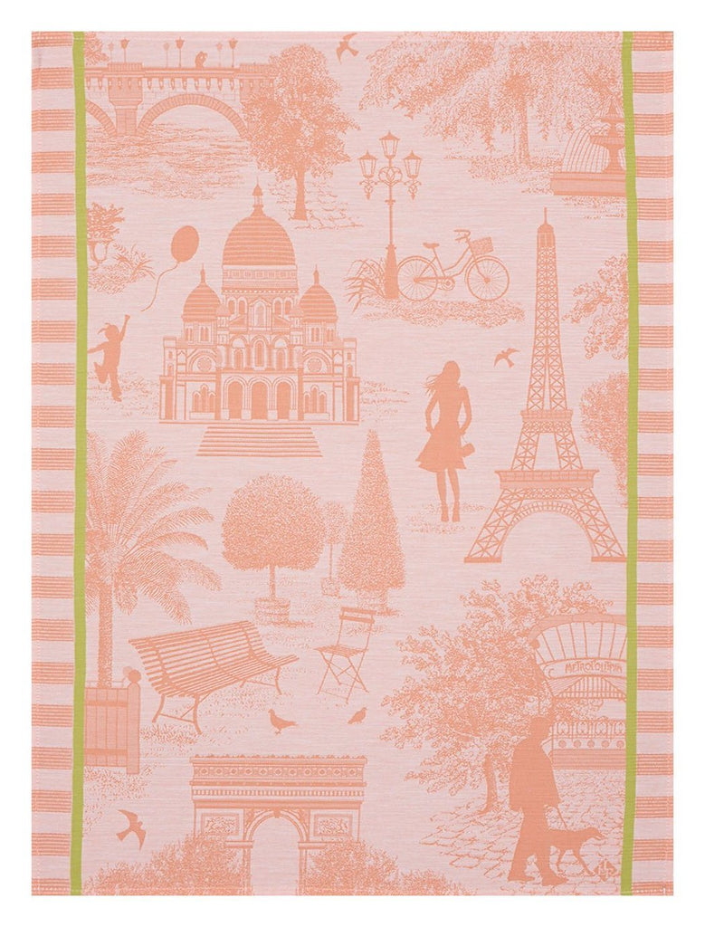 Le Jacquard Toile de Paris Melon Kitchen Towel