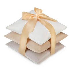 Gold, Ivory & Grey Vetiver Silk Sachet Set