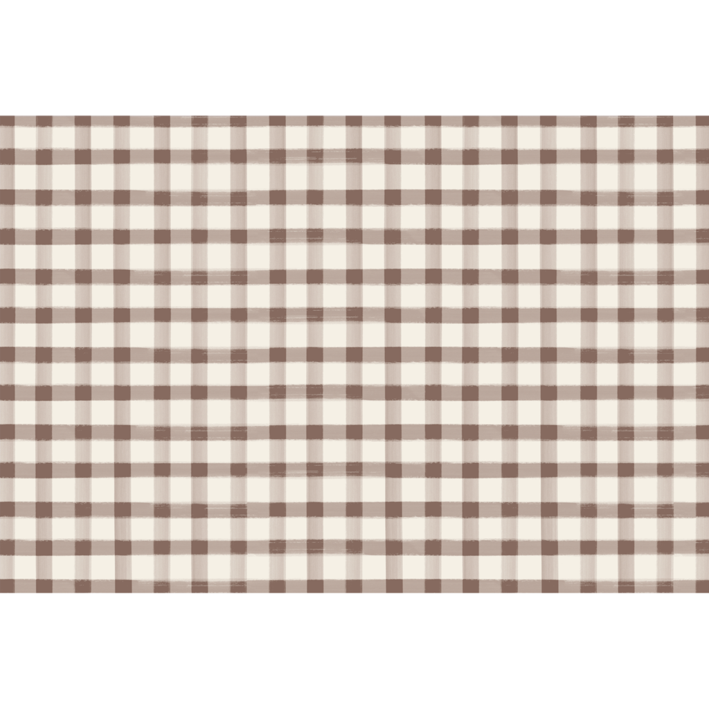 Brown Painted Check Placemat- 24 Sheets