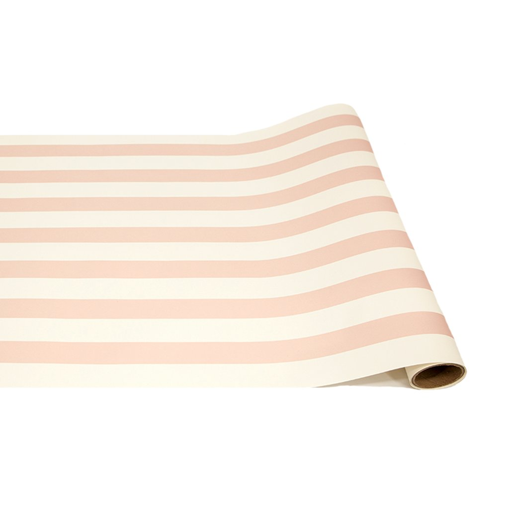 Pink Striped Paper Table Runner