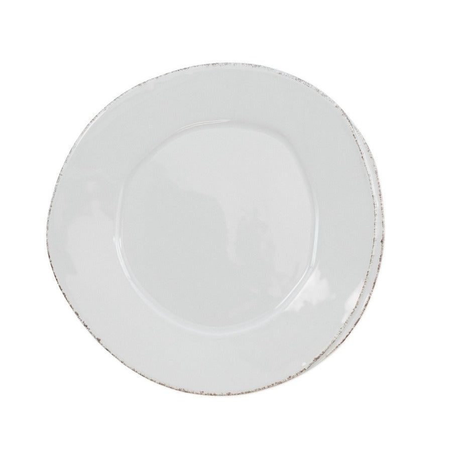 VIETRI Lastra Salad Plate, Light Gray
