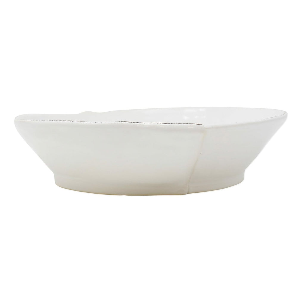 VIETRI Lastra Medium Shallow Serving Bowl, White