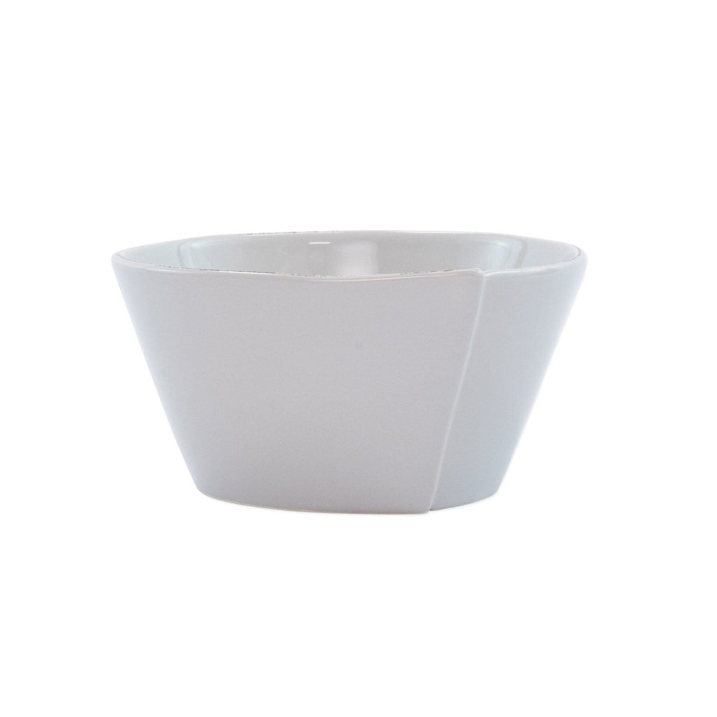VIETRI Lastra Stacking Cereal Bowl, Light Gray