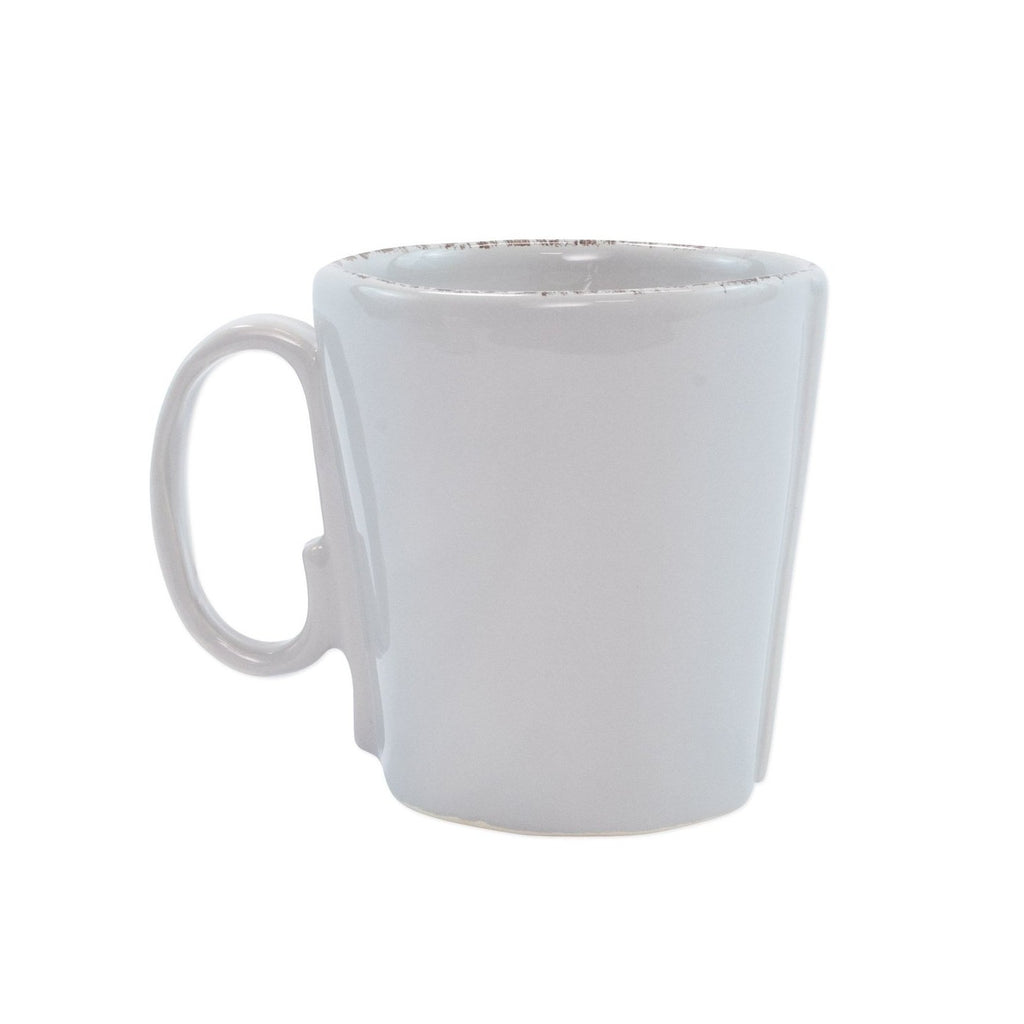 VIETRI Lastra Mug, Light Gray