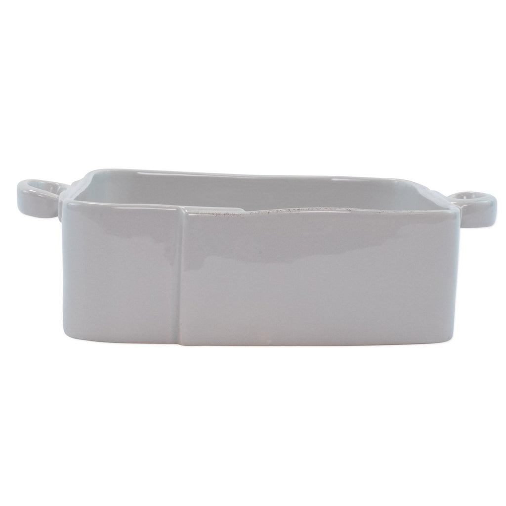 VIETRI Lastra Square Baker, Light Gray