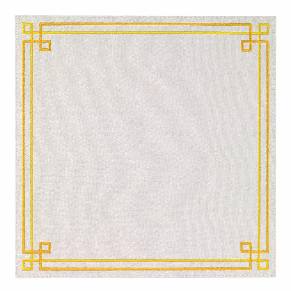 White / Yellow Link Washable Placemat