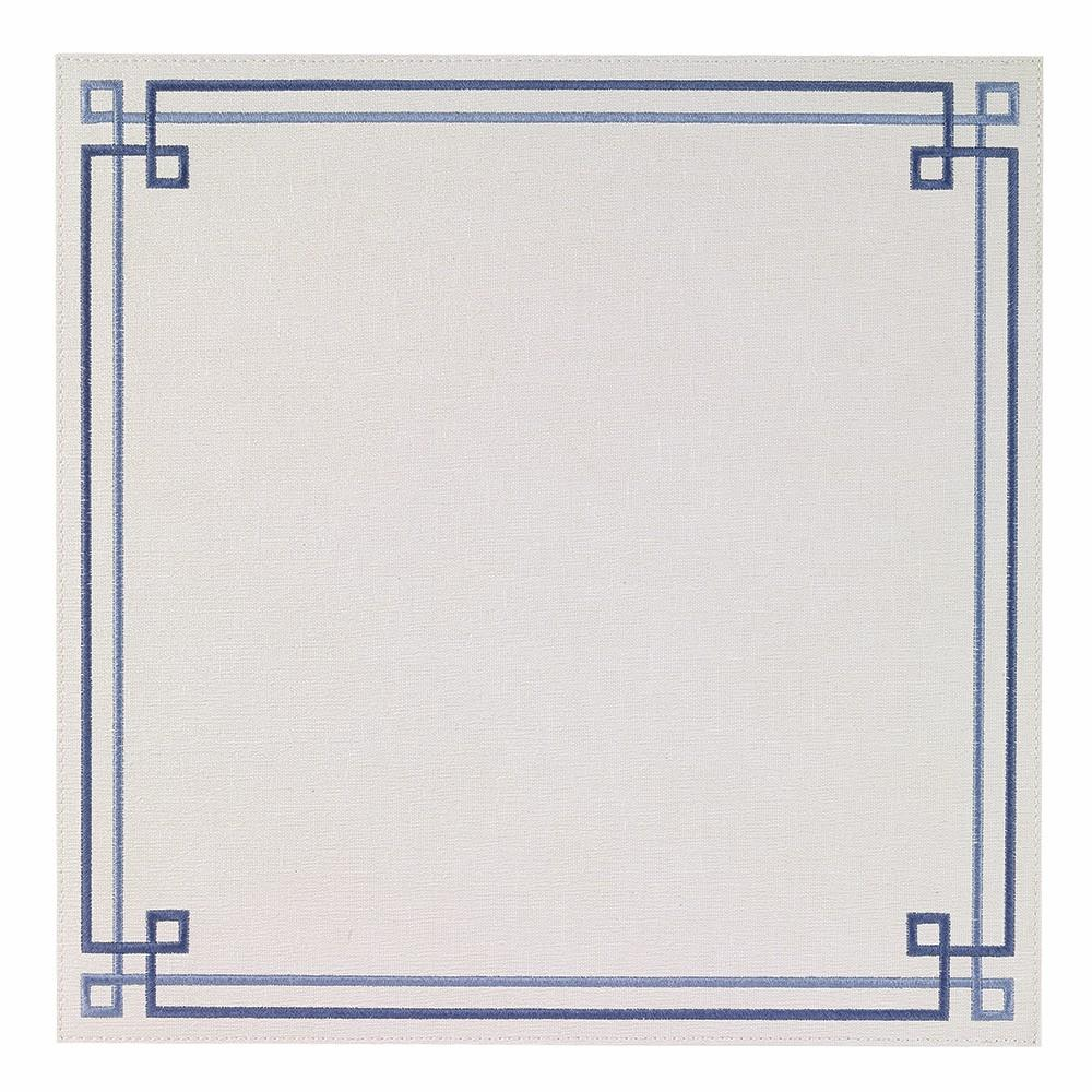 White / Blue Link Washable Placemat