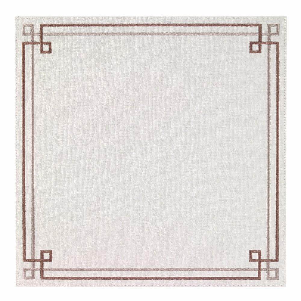 White / Taupe Link Washable Placemat