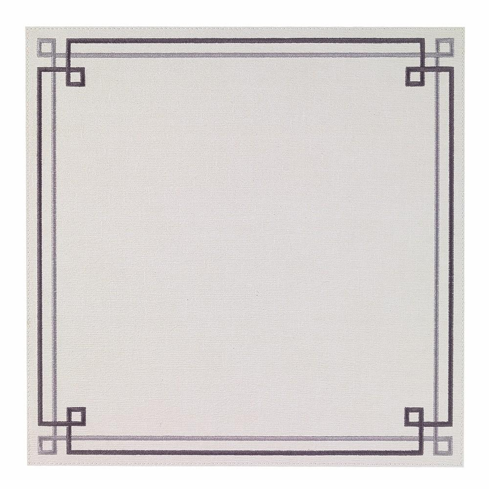 White / Gray Link Washable Placemat