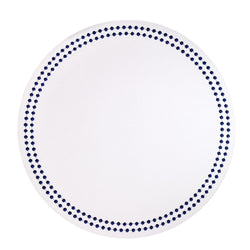 White / Navy Pearls Washable Placemat