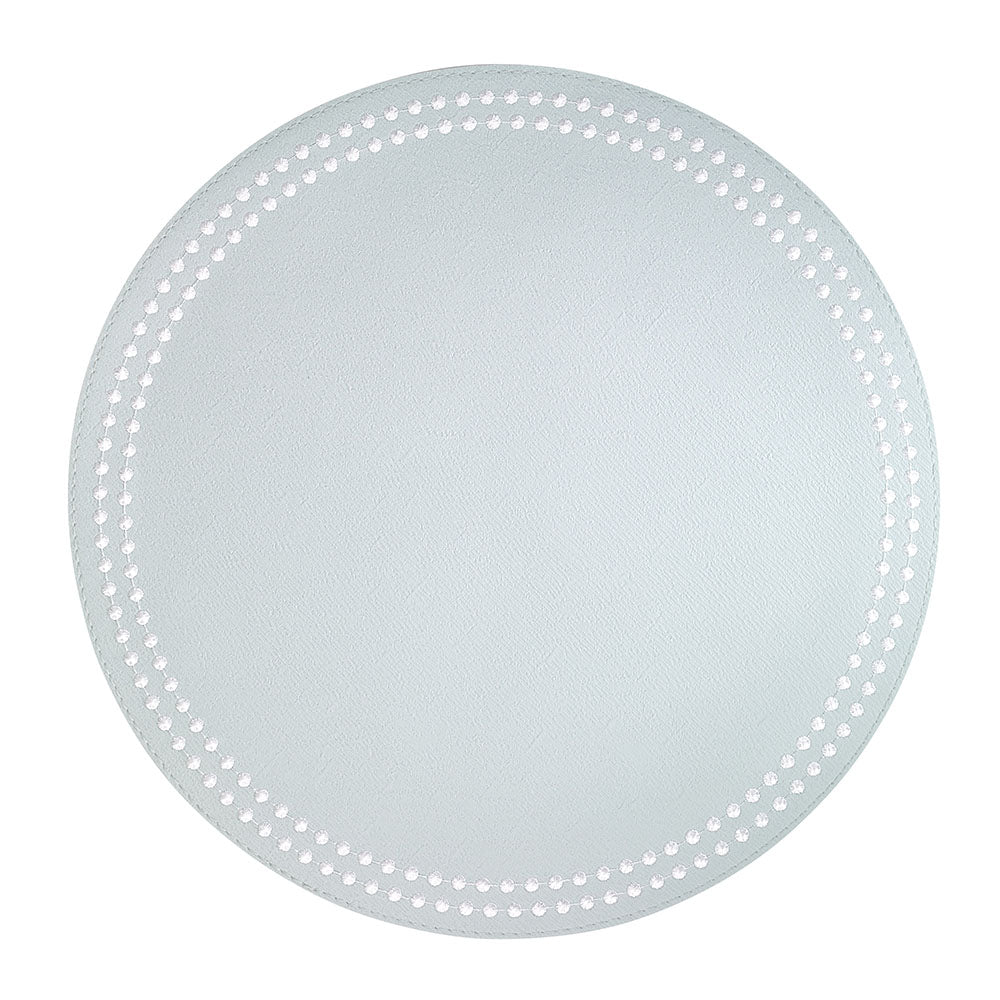 Celadon / White Pearls Washable Placemat
