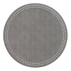 Gray / Silver Pearls Washable Placemat