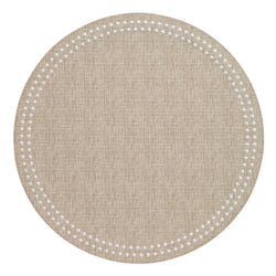 Beige / White Pearls Washable Placemat