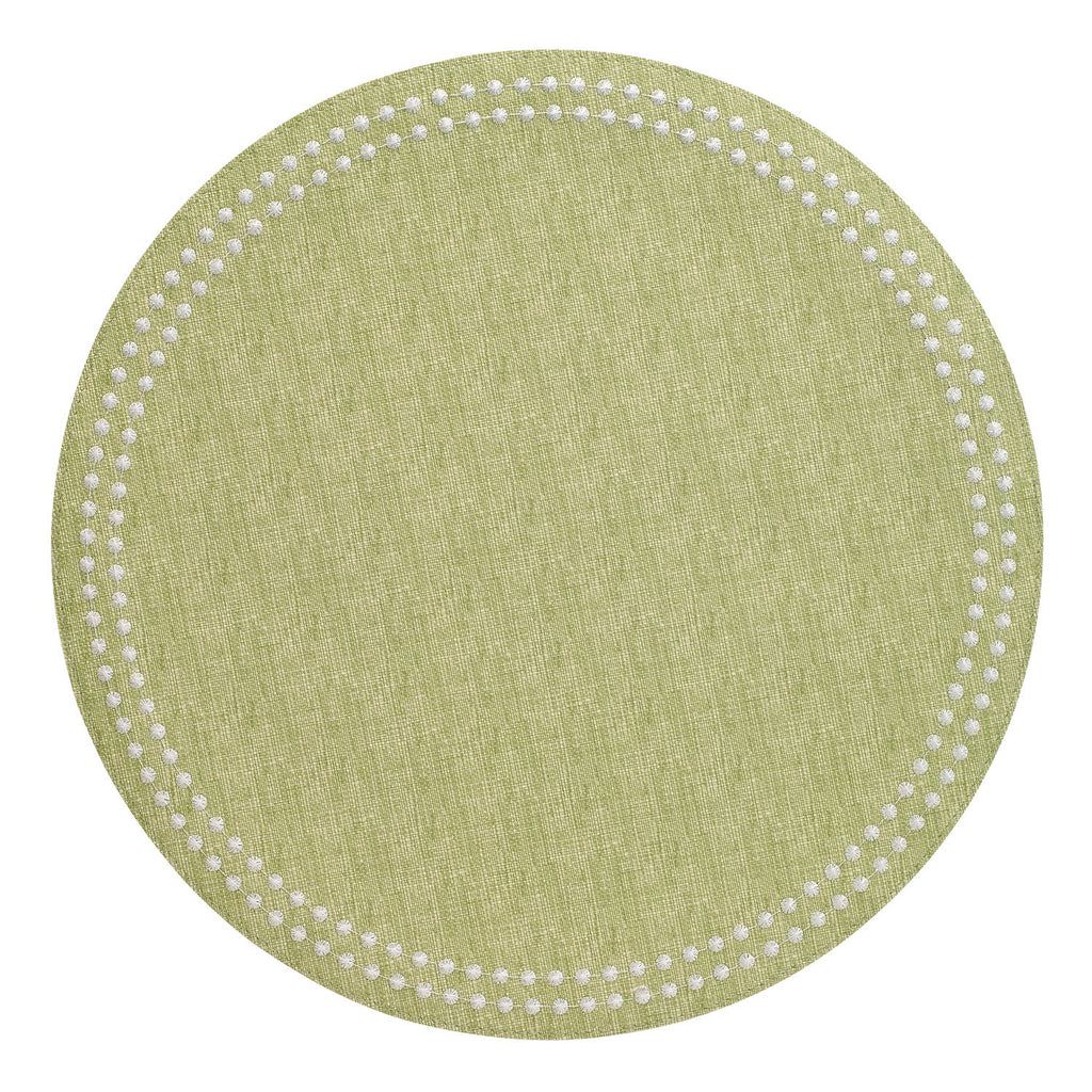 Fern / White Pearls Washable Placemat