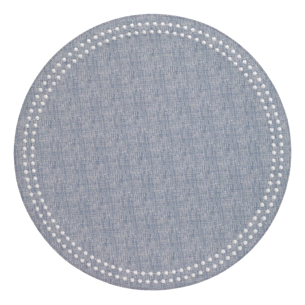 Chambray / White Pearls Placemat