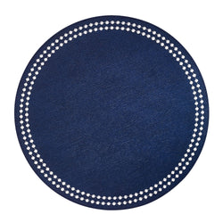 Navy / White Pearls Washable Placemat