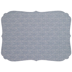 Chambray Curly Oblong Washable Placemat
