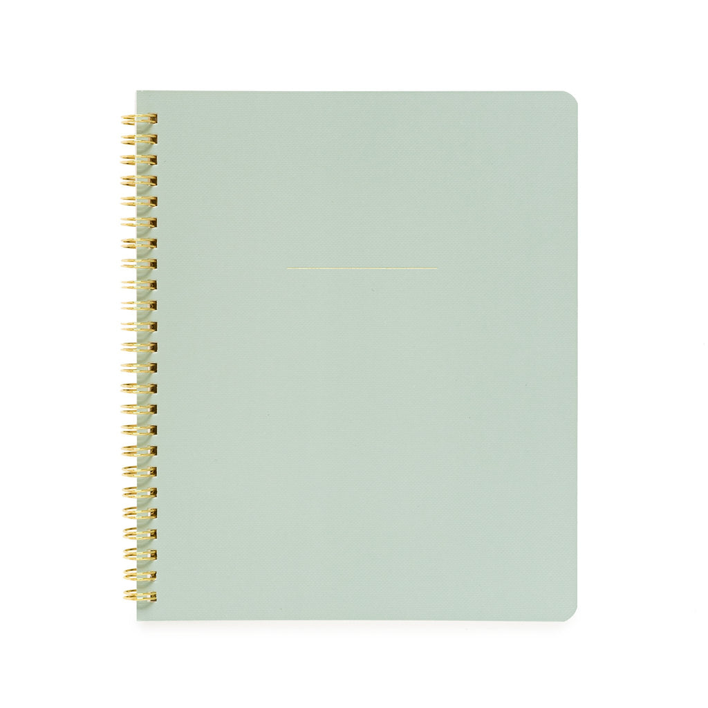 Sugar Paper Spiral Notebook, Office Green