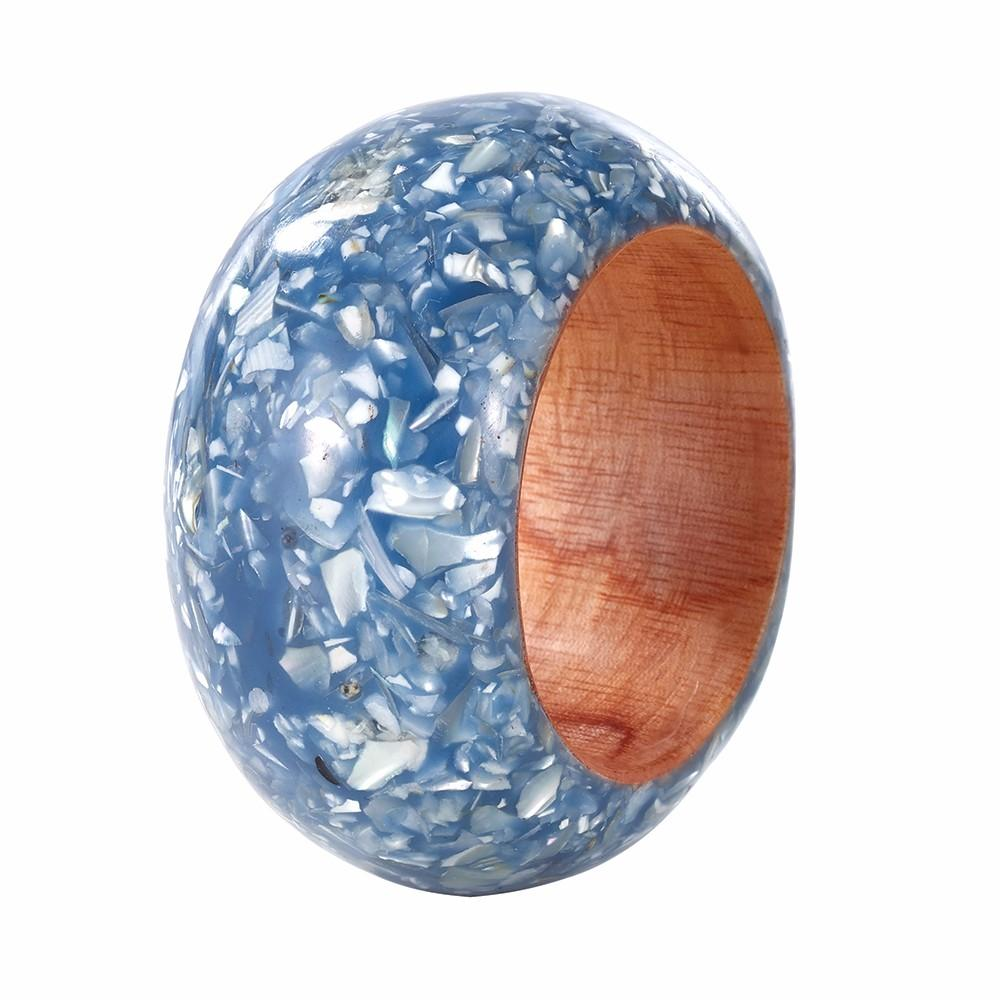Tectus Blue Shell Napkin Ring