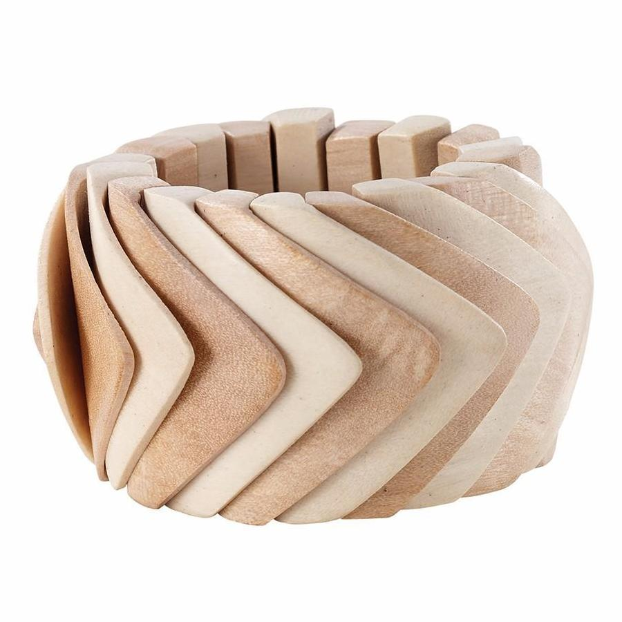 Wooden Chevron Napkin Ring