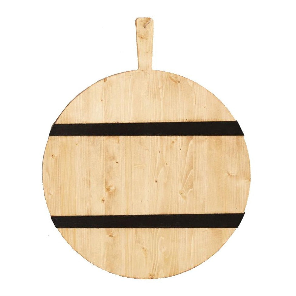 Natural Mod Charcuterie Board with Black Stripe