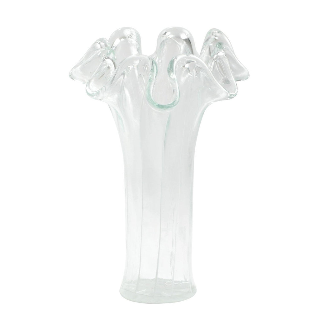VIETRI Medium Onda Glass Striped Vase