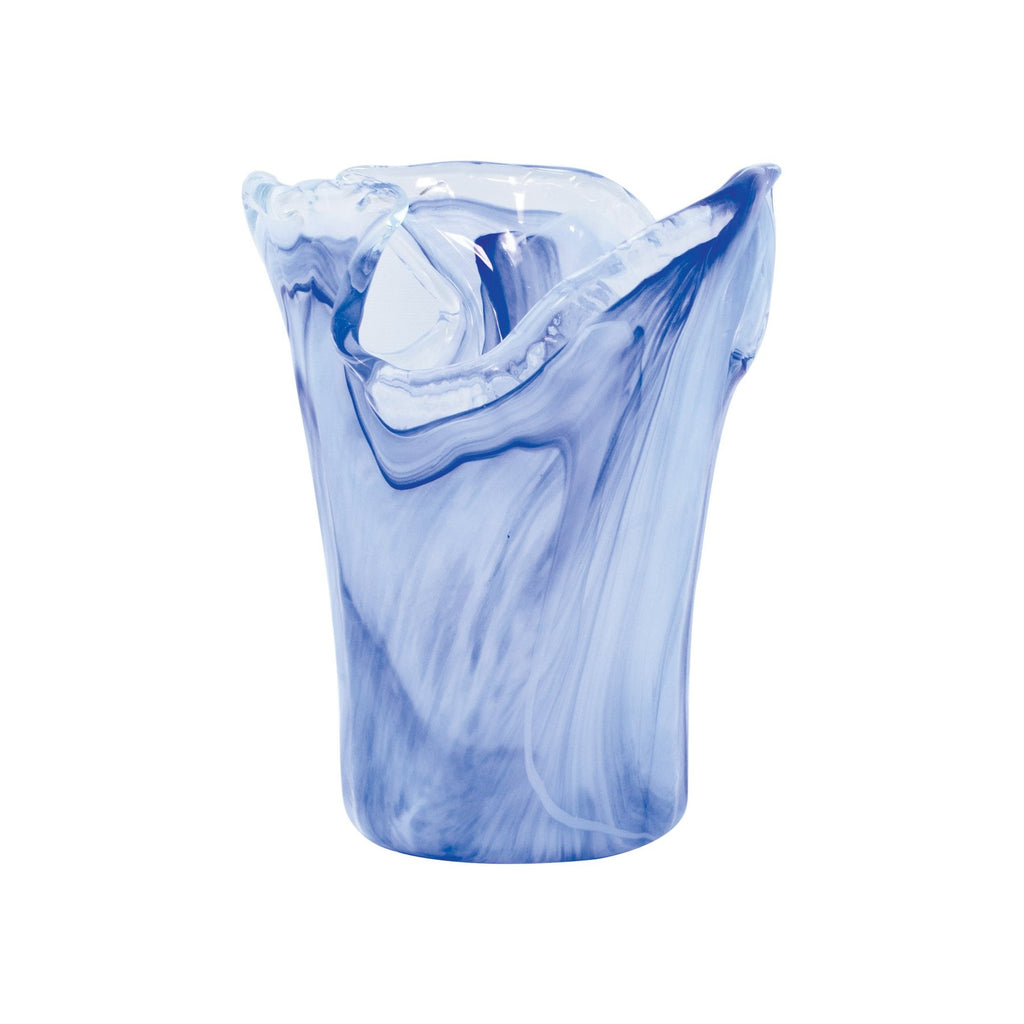 VIETRI Small Cobalt Onda Glass Vase