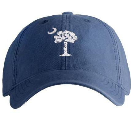 Palmetto Moon Needlepoint Hat - Blue - Waiting On Martha