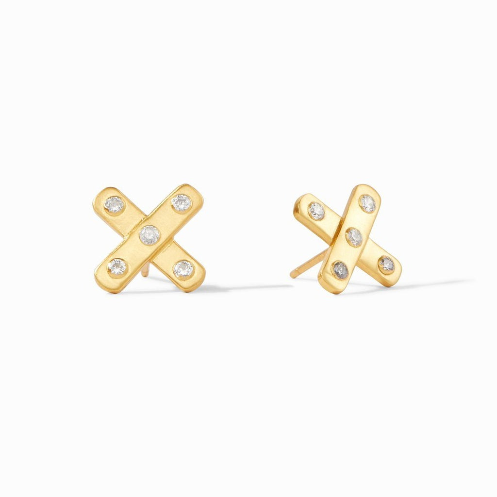 Julie Vos Paris X Stud Earrings