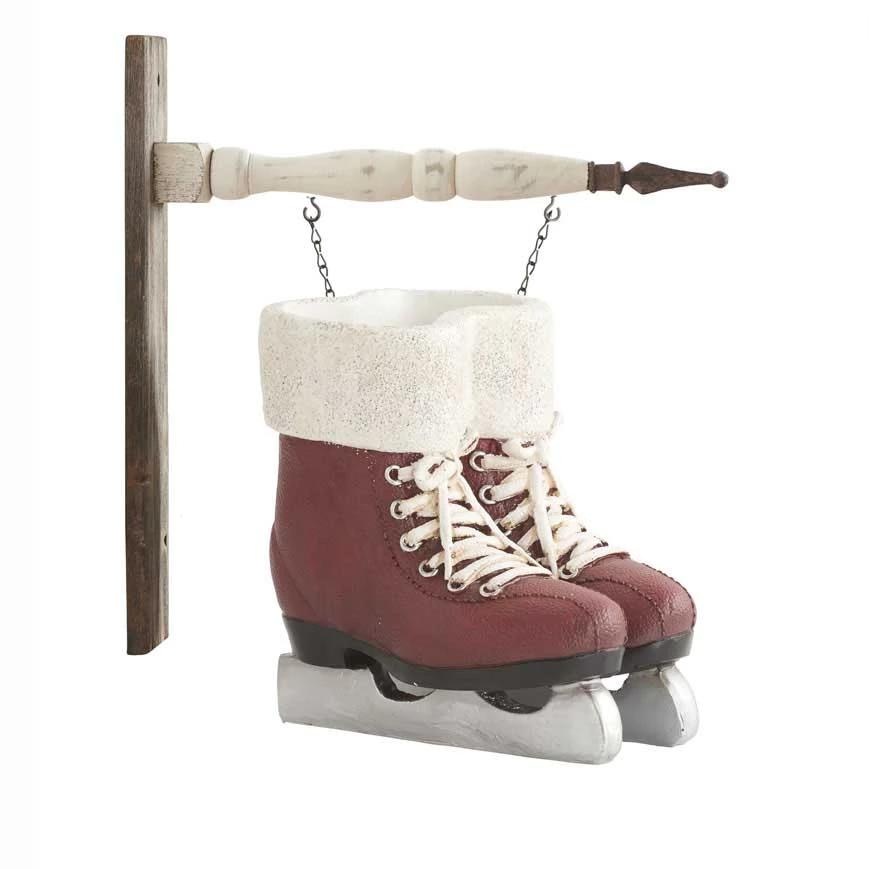 Red Resin Ice Skates Arrow
