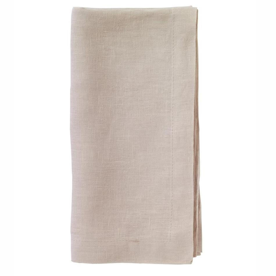 """No Iron"" Tan Riviera Dinner Napkin"