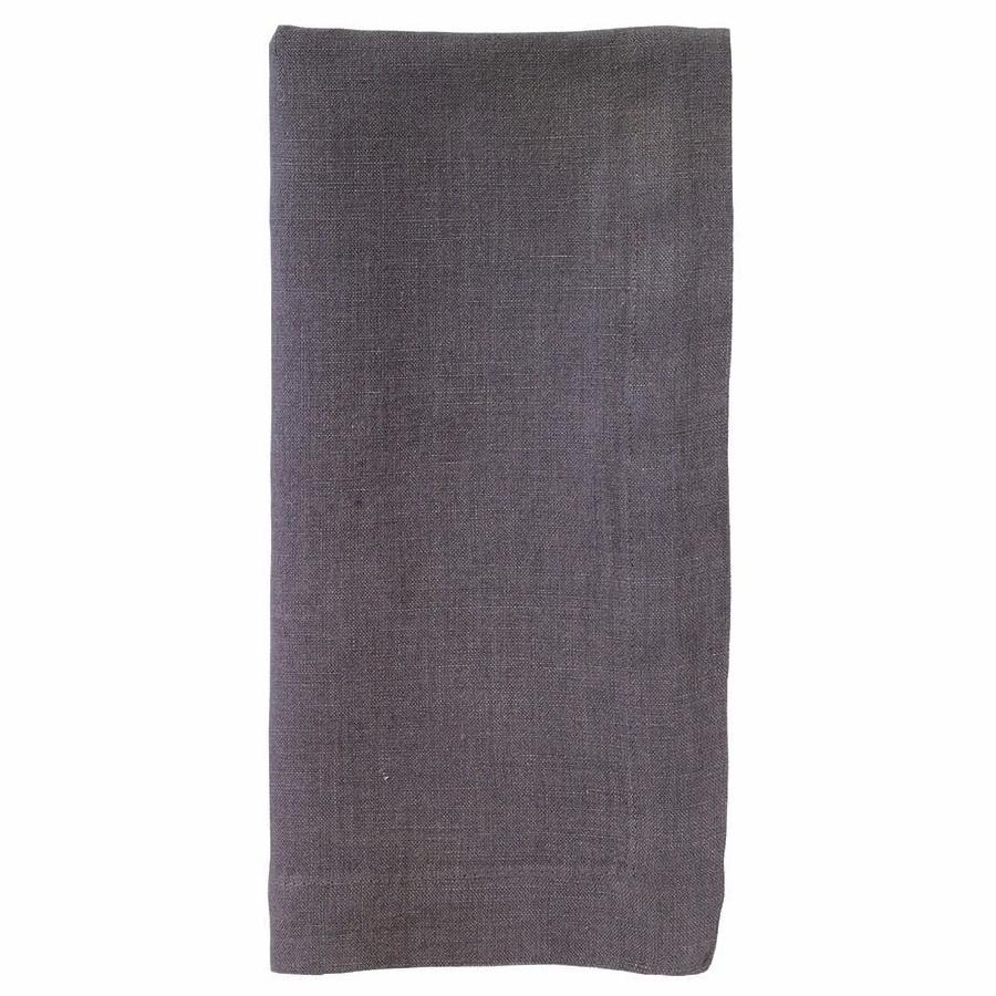 """No Iron"" Gunmetal Riviera Dinner Napkin"