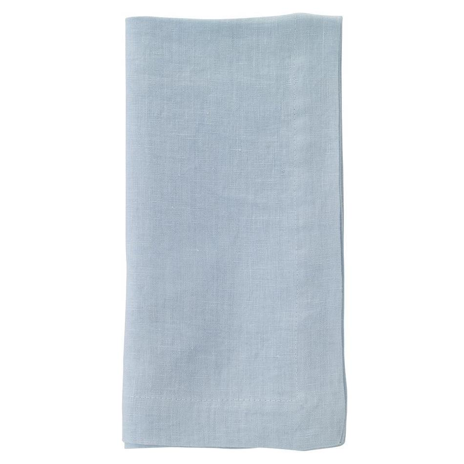 """No Iron"" Powder Blue Riviera Dinner Napkin"