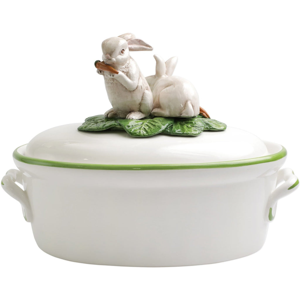 VIETRI Spring Vegetables Bunnies Tureen
