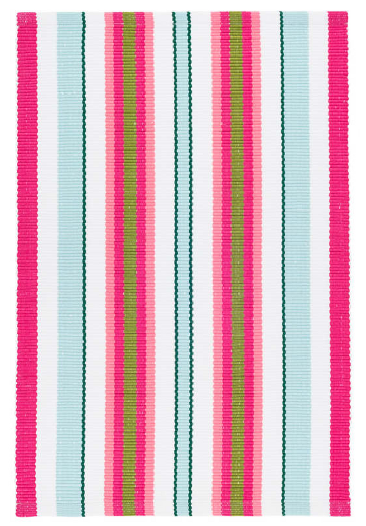 Dash & Albert Watermelon Stripe Indoor/Outdoor Rug