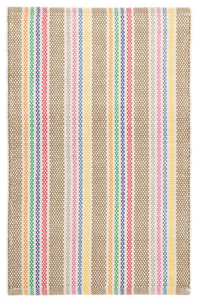 Dash & Albert Tempi Stripe Woven Cotton Rug
