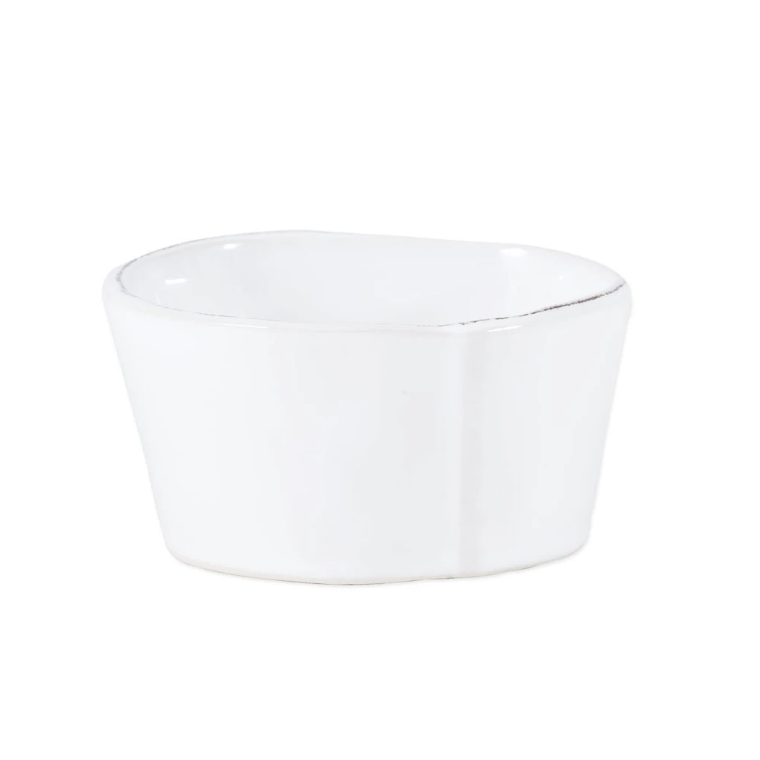VIETRI Lastra White Condiment Bowl