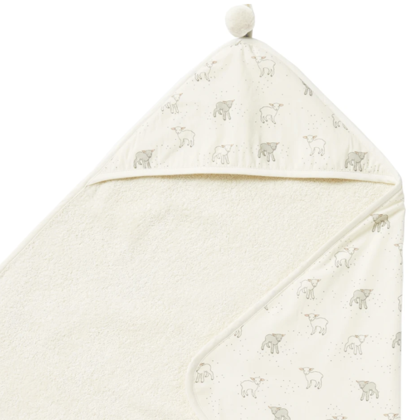 Pehr Little Lamb Hooded Towel