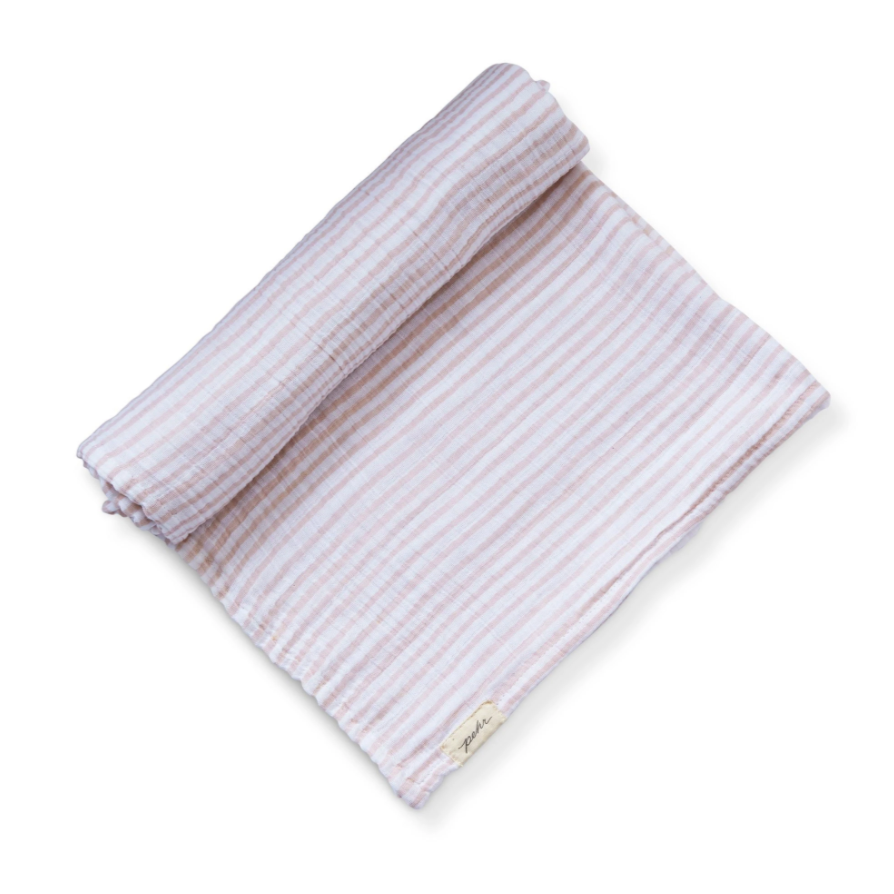 Pehr Striped Swaddle, Petal
