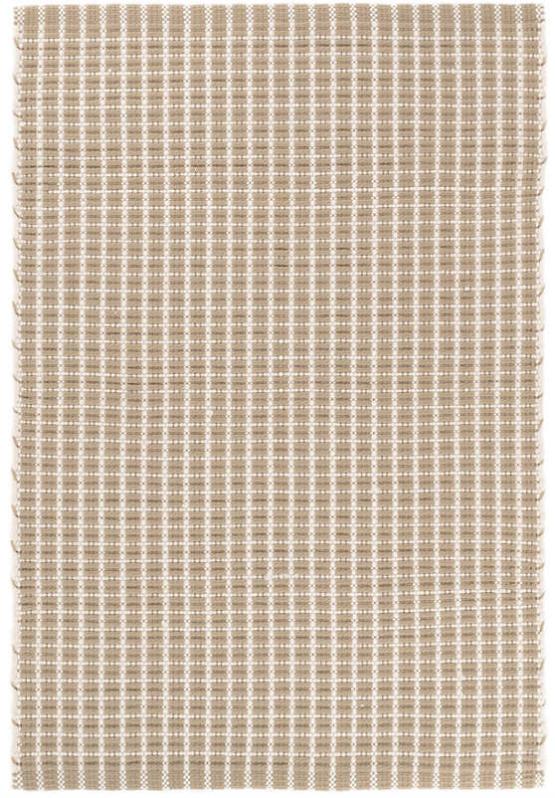 Dash & Albert Gridiron Wheat Indoor/Outdoor Rug