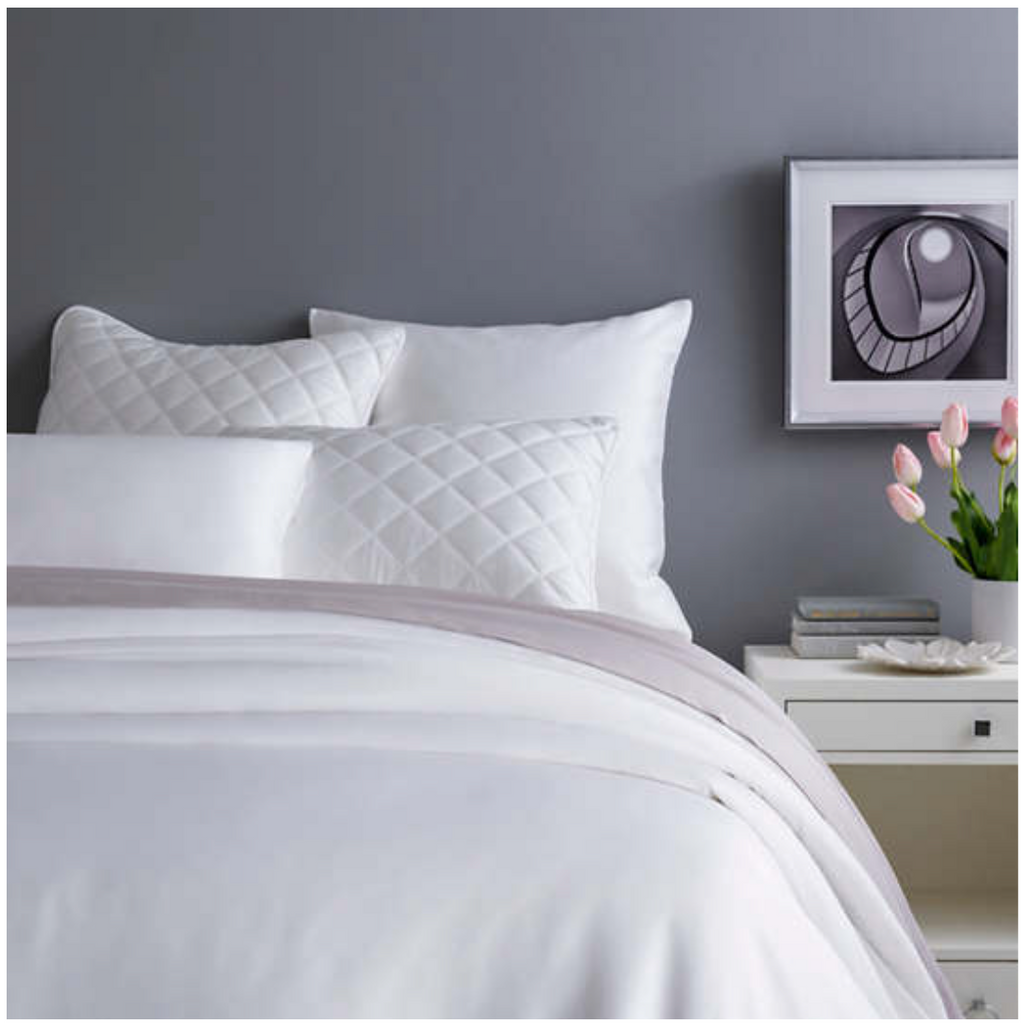 Pine Cone Hill Silken Solid White Duvet Cover