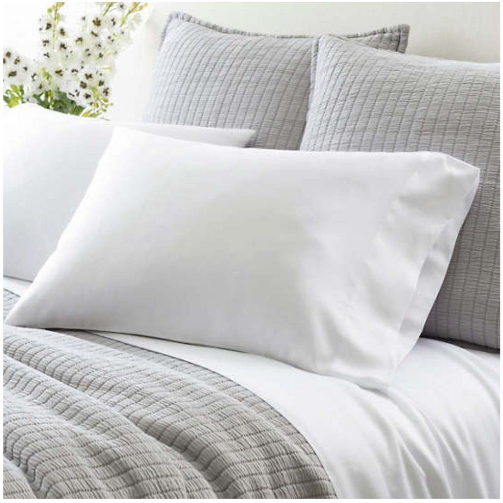 Pine Cone Hill White Silken Solid Pillowcases