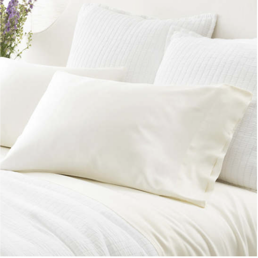 Pine Cone Hill Ivory Silken Solid Pillowcases