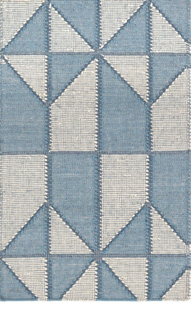 Dash & Albert Ojai Blue Loom Knotted Cotton Rug