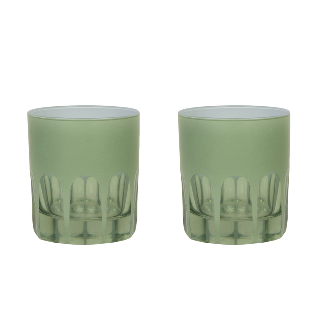 Pale Sage Rialto Old Fashioned Glasses - Set of 2