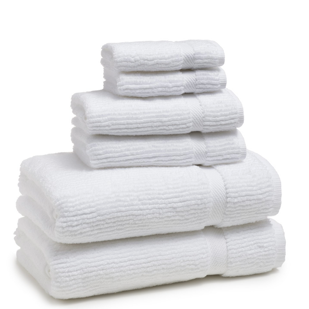 Mateo Ribbed White Bath Towel