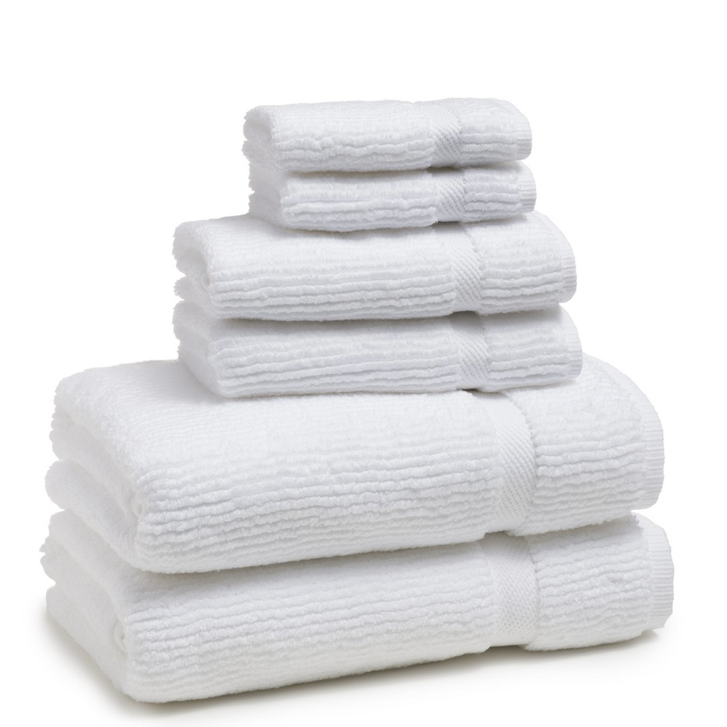Mateo Ribbed White Hand Towel