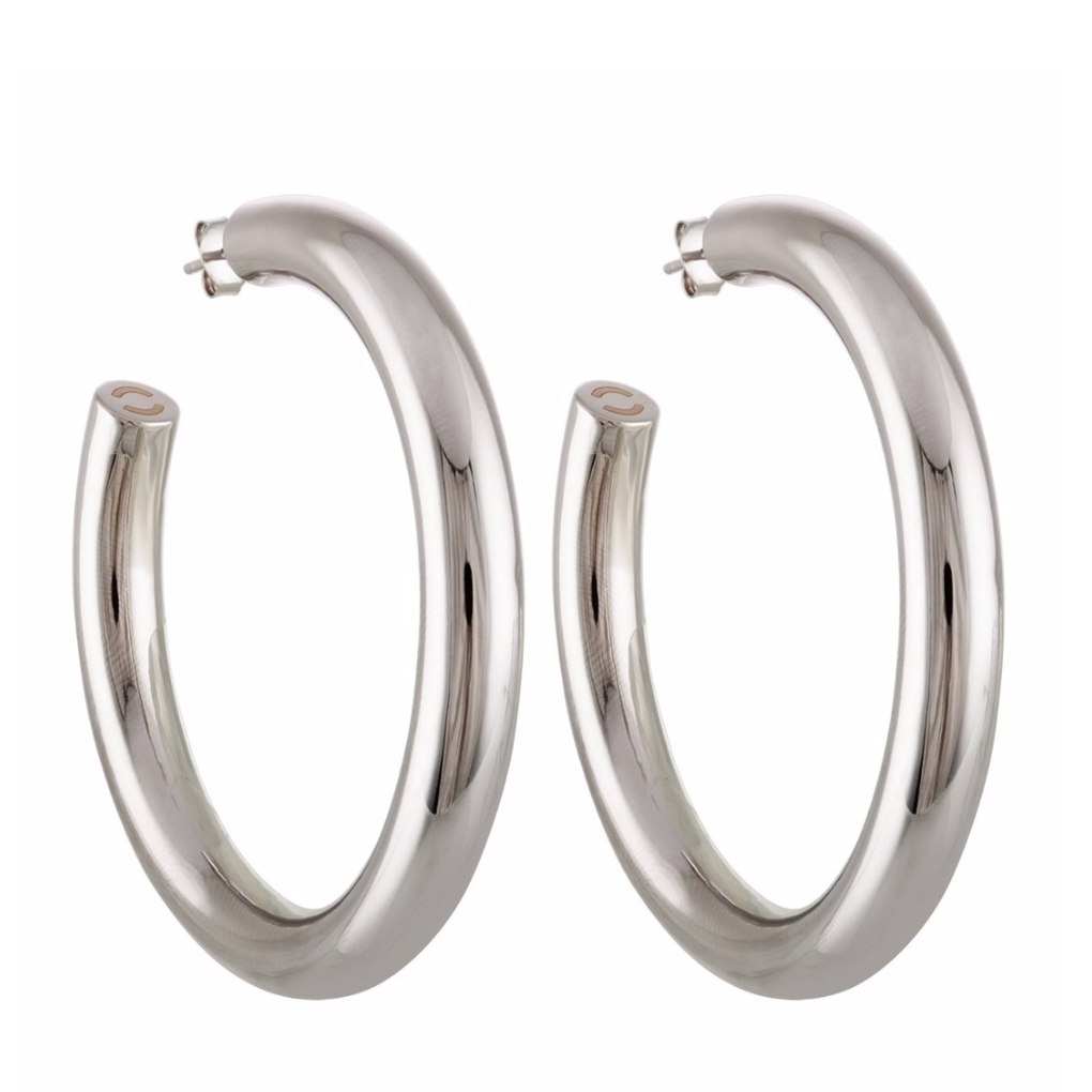 "Perfect 2.5"" Silver Hoops"