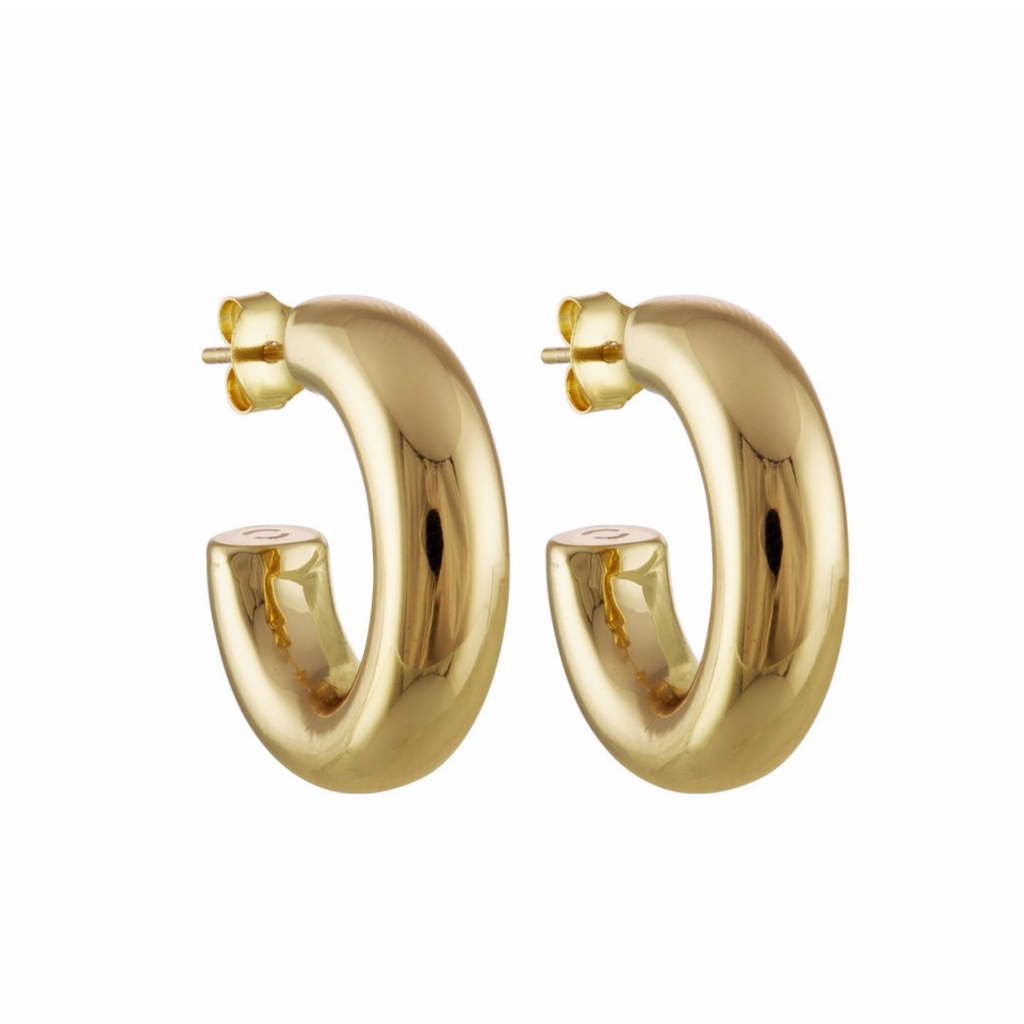 "Perfect .75"" Gold Hoops"