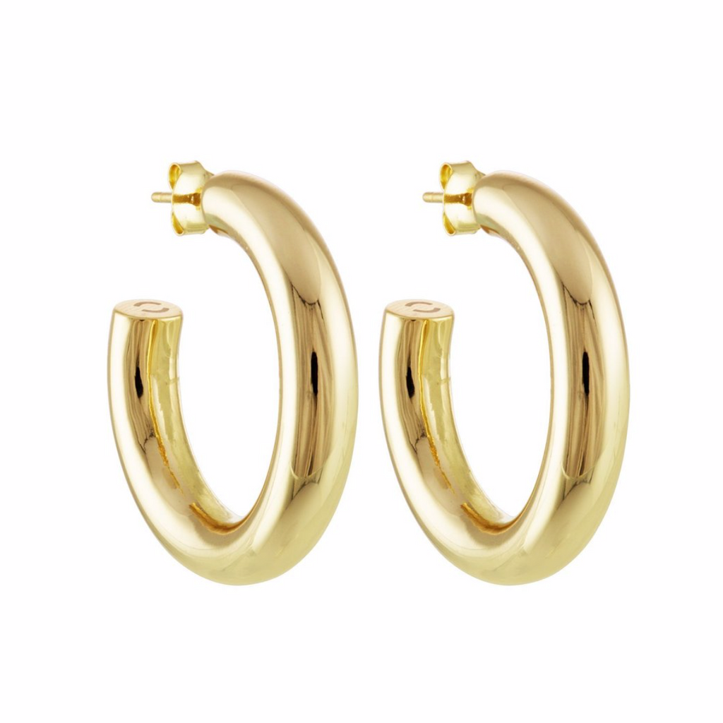 "Perfect 1"" Gold Hoops"